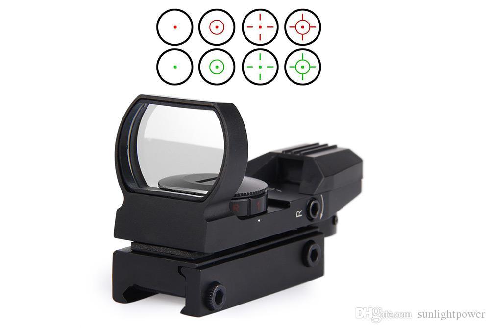Chaud holographique 4 réticule point de vue tactique point rouge / vert avec monture pour la chasse New