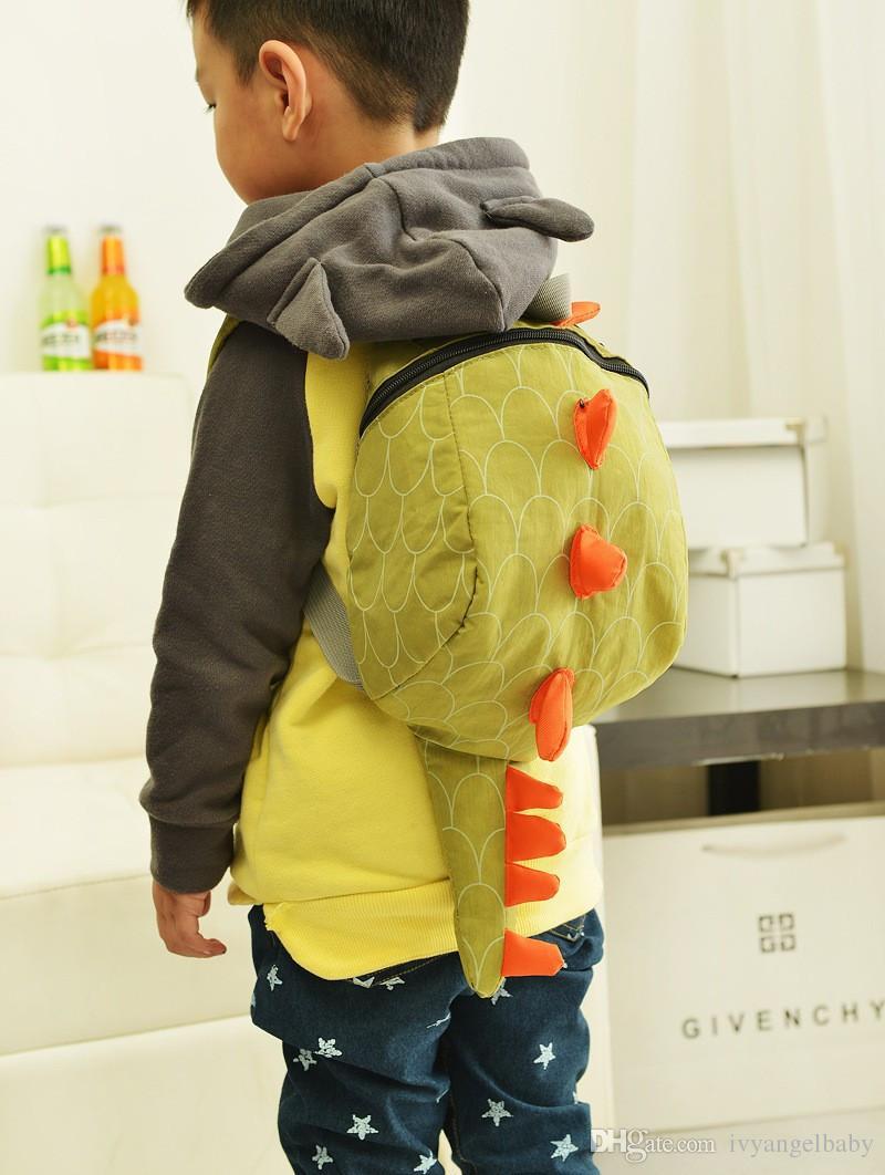 Kids Kindergarten Cute Cartoon Animal Tail Zaino Bambino Dinosaur Mini School Bags Snack Borse bambini e ragazzi