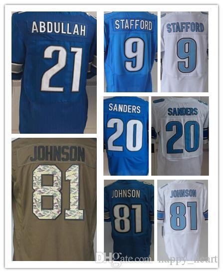 876b5239d ... 2017 Men Detroit Jersey Lions 9 Matthew Stafford 21 Ameer Abdullah 20  Barry Sanders 81 Johnson ...