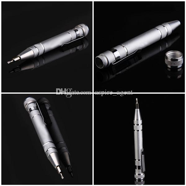 Multifuction 8 In 1 Pocket Pen Shaped Screwdriver Set with Slotted Torx Hex Heads Portable Precision Phillips Wholesale DIY Ecig Tools