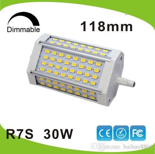 acheter haute puissance 30w dimmable 118mm led r7s lumi re j118 r7s lampe sans ventilateur de. Black Bedroom Furniture Sets. Home Design Ideas