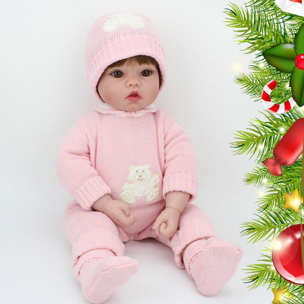 Dolls & Stuffed Toys 50cm Bebe Reborn Lifelike Boy Baby Newborn Realistic Silicone Reborn Baby Dolls Early Education Toy Reborn Baby Simulation Dolls