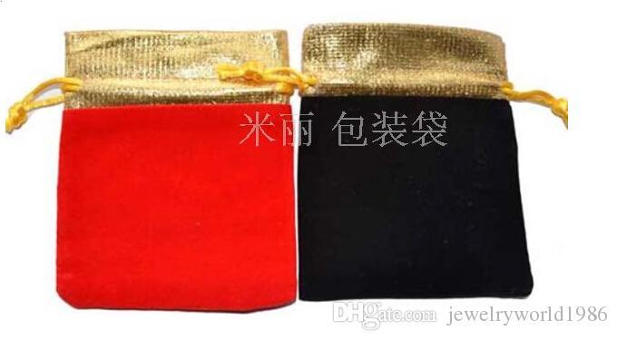 Rapide Livraison Gratuite Fine Bijoux Sacs Exquis flanelle Cadeau Sacs collier Bracelets Anneaux Sacs 10x12mm