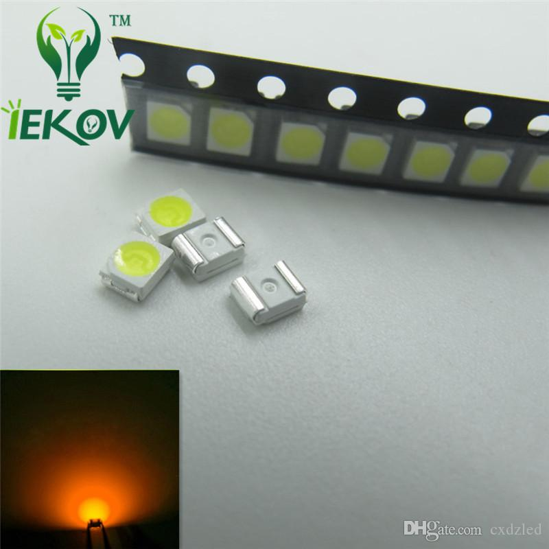 PLCC-2 Yellow LED 1210 3528 SMD Ultra Bright Light Emitting diodes 3.0-3.2V 585-595nm SMD/SMT Chip lamp beads Wholesale