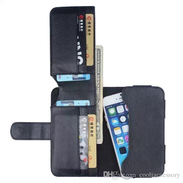 For iPhone 6 6S 7 Plus Samsung Galaxy S6 Edge S3 S4 S5 S7 5.5 inch Universal Wallet Leather Pouch Case Credit Cards Luxury Purse Bag 35pcs