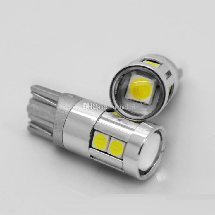 T10 9 SMD 3030 Chips Car Led Light Canbus Auto Lamp Bulb 12V Turn Side Lamps License Plate Lights Parking Lights Fog Bulbs Clearance Lamps