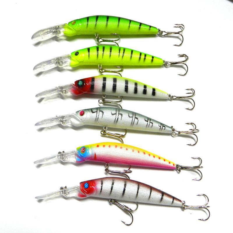 6 couleurs 14.5cm 14.7g gros leurres de pêche en plastique dur appâts de pêche s'attaquer Pesca poisson Wobbler Minnow leurre artificiel Swimbait 2508012