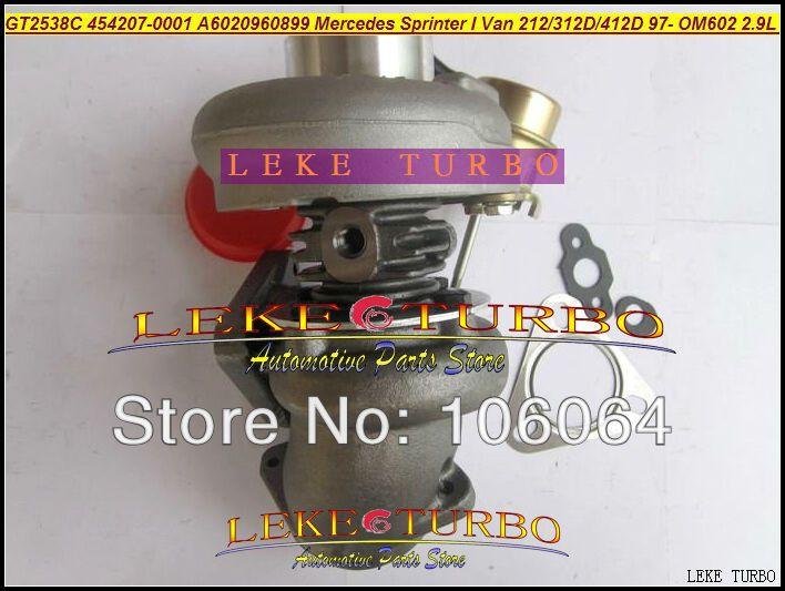 GT2538C 454207-0001 6020960899 For Mercedes-PKW Sprinter I Van 212D 312D 412D 2.9L OM611 141HP 2000-2006 turbocharger - (4)