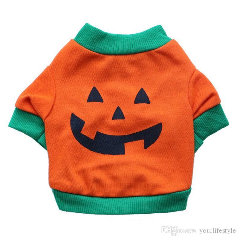 pet clothes winter dog puppy t shirts fleece warm clothes cute halloween pumpkin xs l warm pet t shirt coats wholesale halloween pumpkin warm pet t shirt