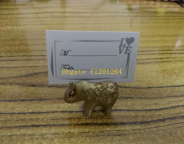 / Livraison gratuite Porte-cartes Porte-bonheur Décoration d'éléphant Golden Place Nom de titulaire