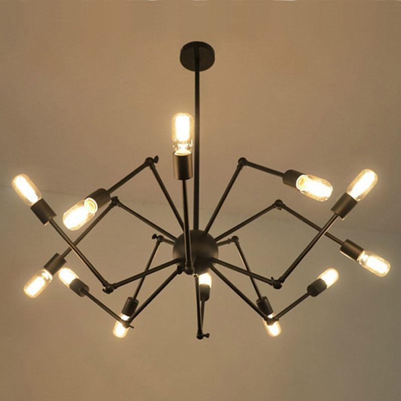 DHL Free American industrial Loft Vintage pendant light E27 Edison bulb iron black painted for living/ dining room home decoration lamp