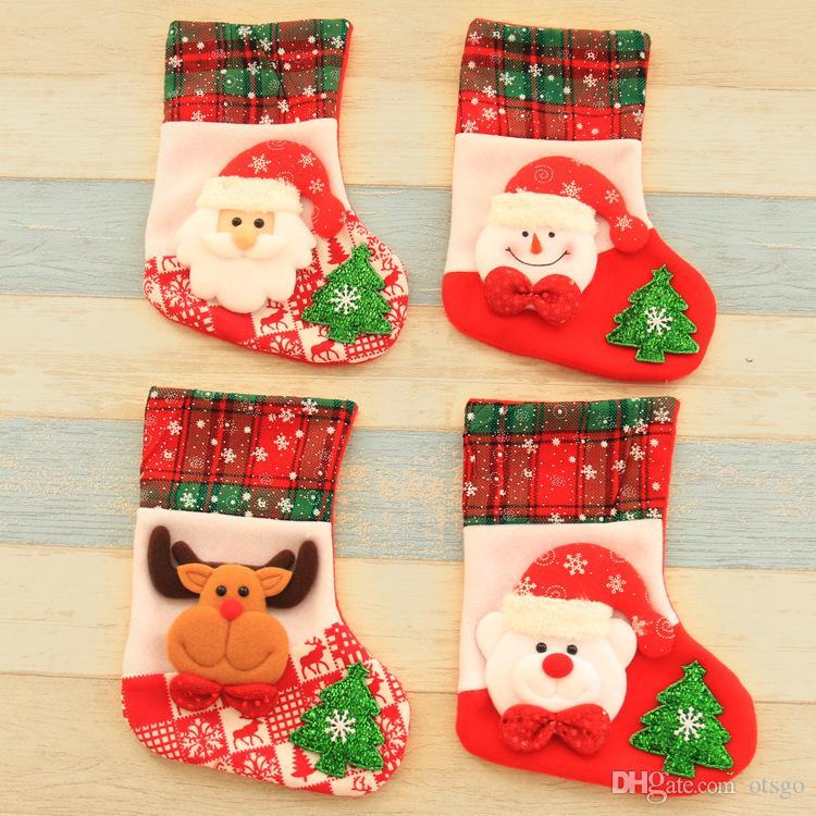merry christmas decorations large santa claus bear deer children christmas socks candy socking gift bag pendant large christmas decorations large christmas - Christmas Decorations Large Santa Claus