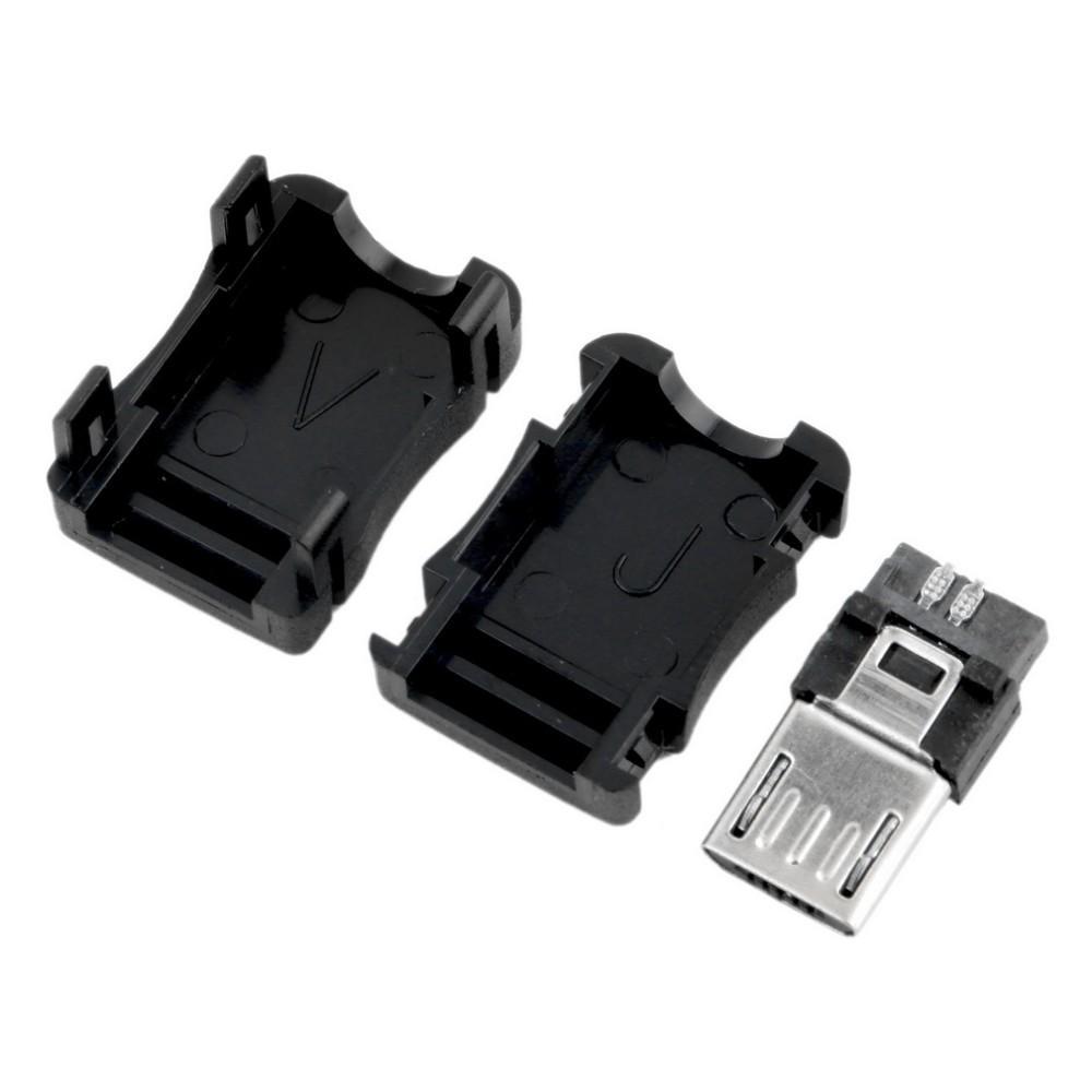 3 IN 1 MK5P 마이크로 USB 5 핀 5P T 포트 남성 플러그 소켓 ConnectorPlastic 커버 케이스 DIY 솔더에 대 한