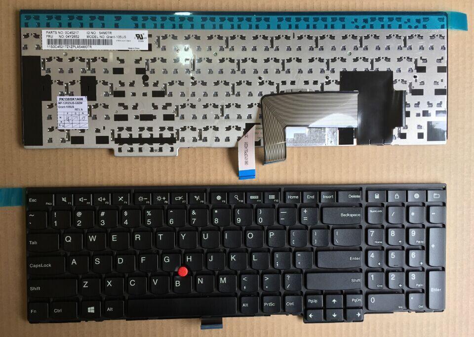 Wholesale-LENOVO ThinkPad Edge E531 E540 L540 T540P W540 FRU:04Y2652 US  Keyboards