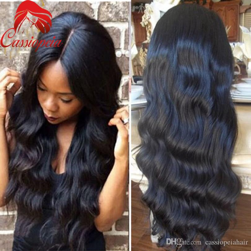 100% Unprocessed Virgin Brazilian Silk Top Full Lace Wigs Body Wave Glueless Lace Front Human Hair Wigs with Silk Base With Baby Hair