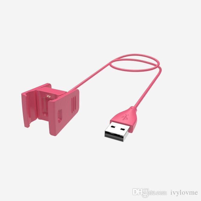 Ersatz-USB-Ladekabel Ladekabel Für Fitbit-Ladung 2 Smartband 55 cm / 1 cm schwarz / pink / blau