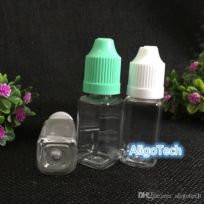 / Platz Flasche E Cig Öl-Flaschen 10 ml PET-Flaschen mit leeren Dropper Child Proof Lids Lange dünne Spitze Für E-Liquid e-Saft