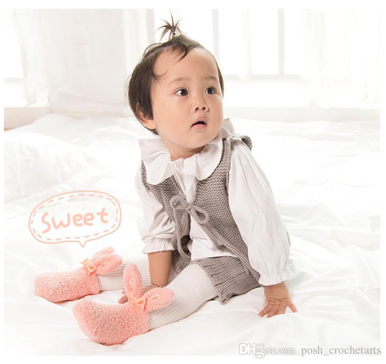 Häschenohren Baby Socken Cute Insta Style Boutique Jungen und Mädchen Socken für Neugeborene Geschenke Kleinkinder Winter Boden Schuhe Geburtstag Geschenkidee