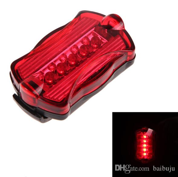 6 LED Bicycle Light Front Light Headlight Bike Accessories 5 LED Rear Cycling