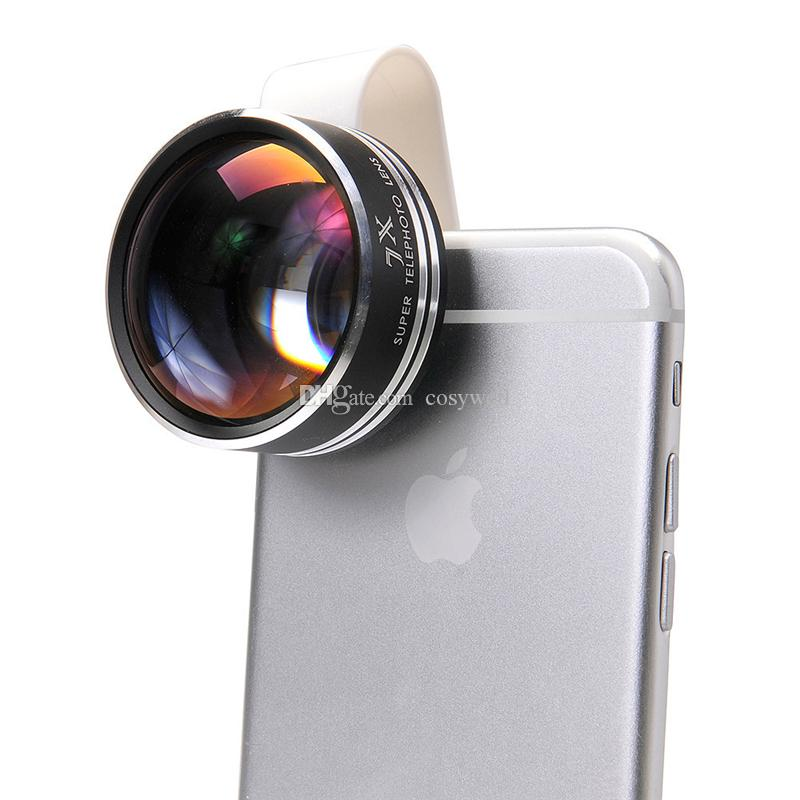 low priced 7e67b 547c5 2019 Universal Clip 7X Telephoto Telescope Phone Camera Lens For Iphone 6 4  5S Samsung Cell Phones Optical Telescope Lens APL 7XST DHL FREE From ...