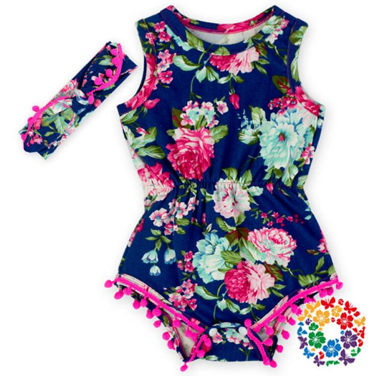 22bf7cf5f380 2019 Baby Floral Bubble Romper Baby Kids Summer Romper Flower Print Cotton Bubble  Rompers For 0~3 Y Baby From Choicegoods521
