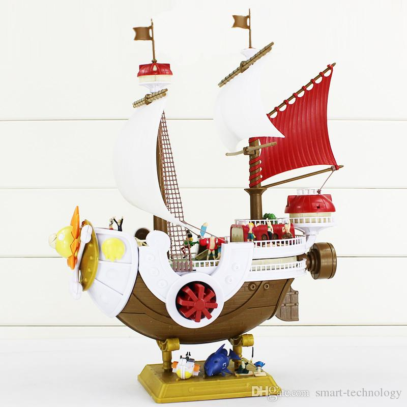 One Piece Thousand Sunny Pirate ship Model PVC Action Figure Toy Best Gift For Children 40*27cm