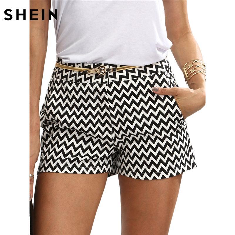 Blanc Taille Moyen Femme Pocket Et Shein Eté Shorts Nouvelle Arrivée Coton Bouton Casual Gros Fly Straight Noir qVUMzSp
