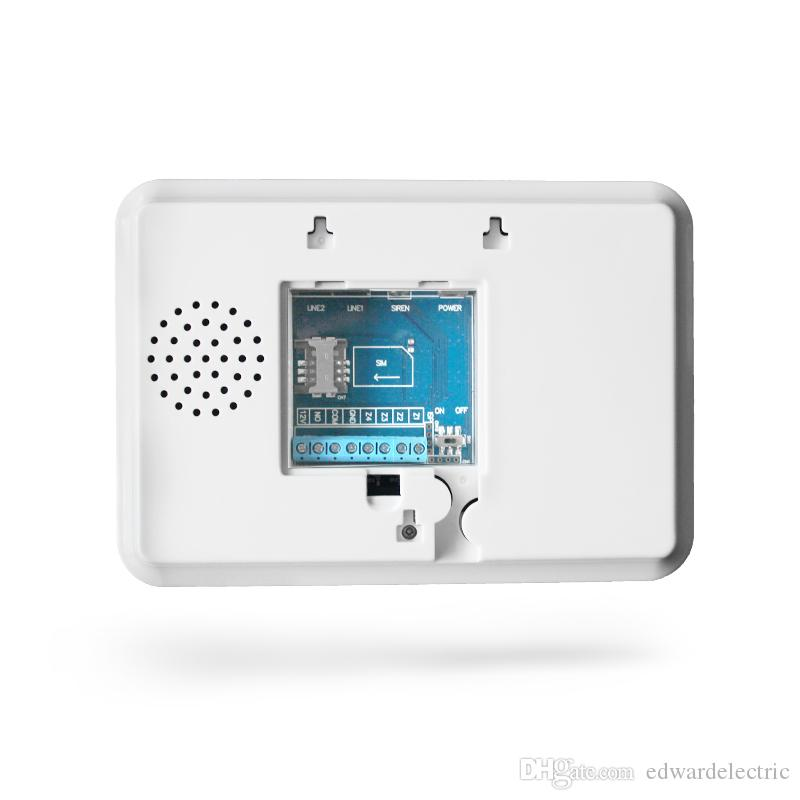 box package LCD digital display auto calling SMS phone App remote control home security device alarme console with pir