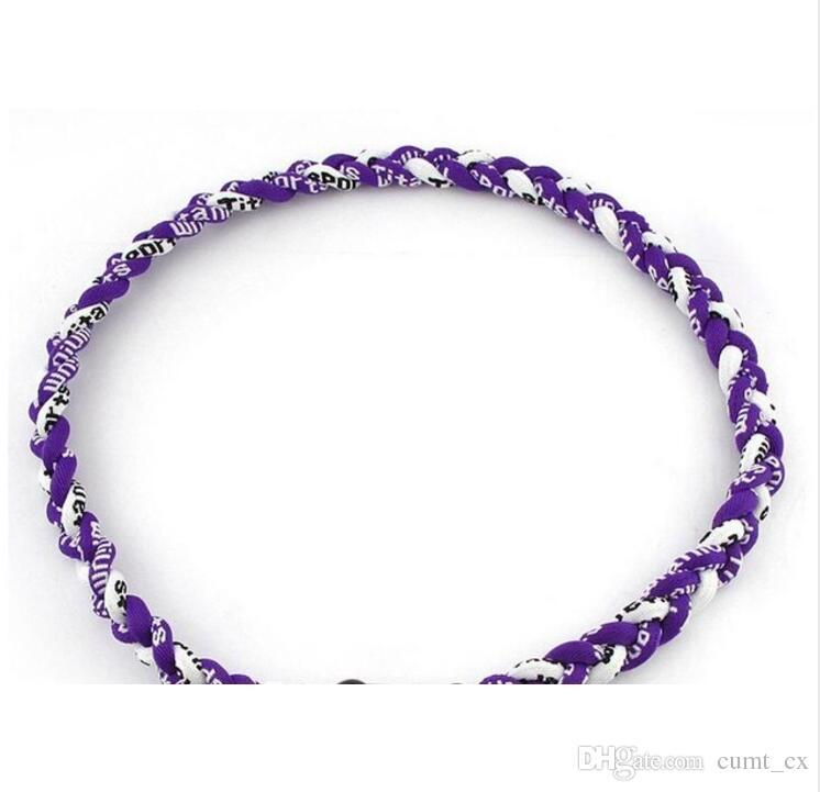 baseball necklace 3 Ropes Twisted Germanium Titanium Sports necklaces tornado necklace Men Women Athlete Jewelry