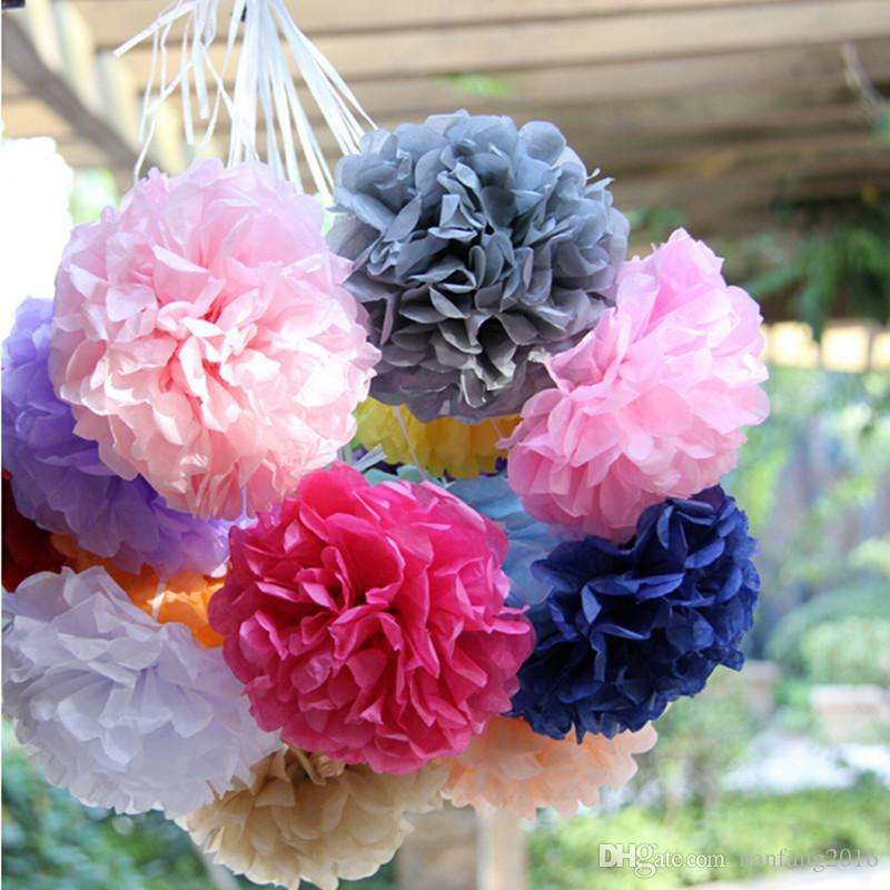 2018 wholesale 10cm4 inch tissue paper flowers pom poms balls 2018 wholesale 10cm4 inch tissue paper flowers pom poms balls lanterns party decor for wedding decoration multi color option from nanfang2016 mightylinksfo
