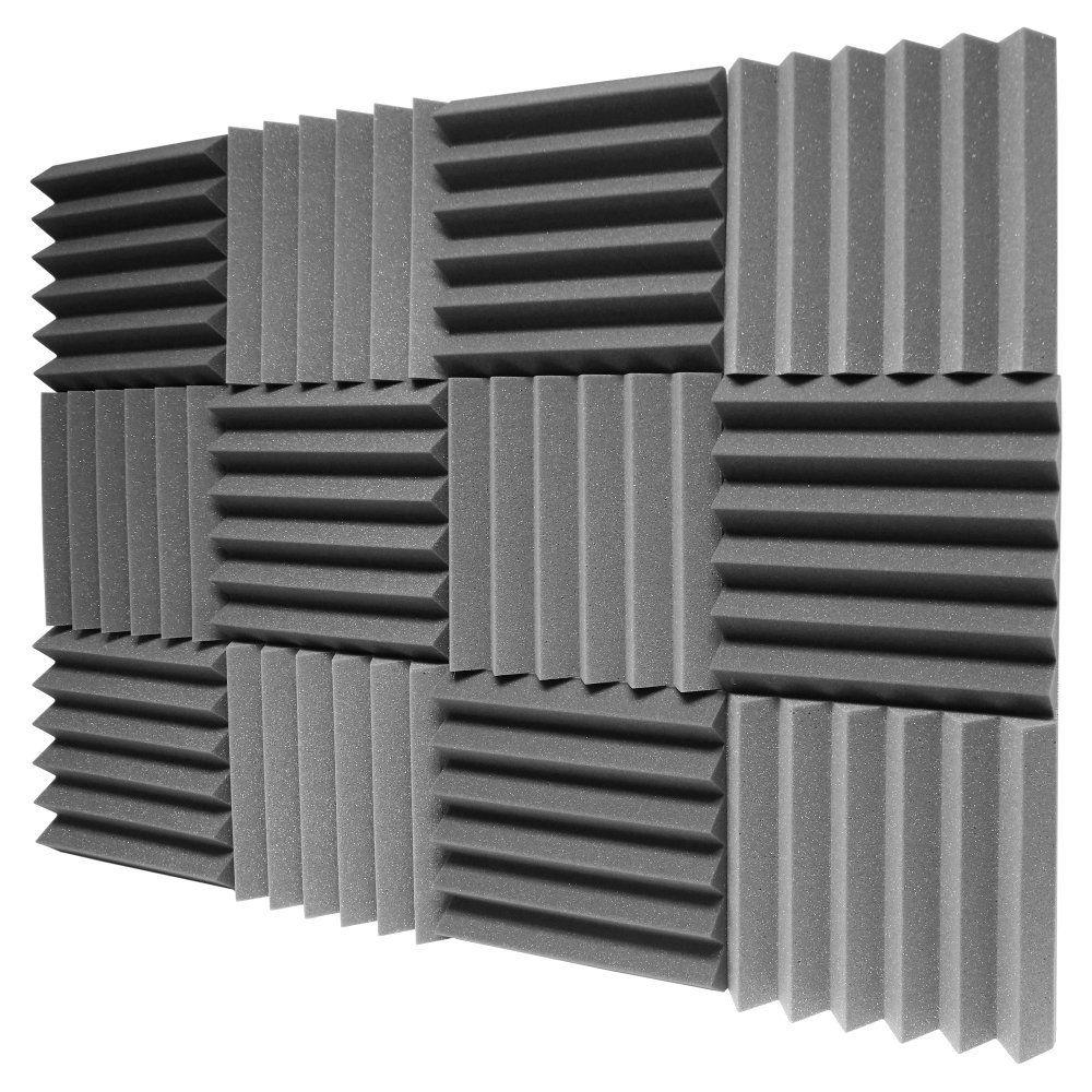 Sound Foam Panels For Walls : Pack charcoal acoustic foam sound absorption studio