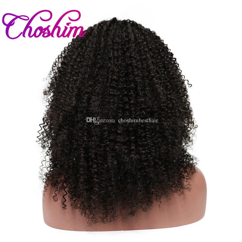 Choshim KL Afro Kinky Curly Full Lace Human Hair Wigs 150% Density Brazilian Remy Hair Gluelss Wigs For Black Women With Baby Hair