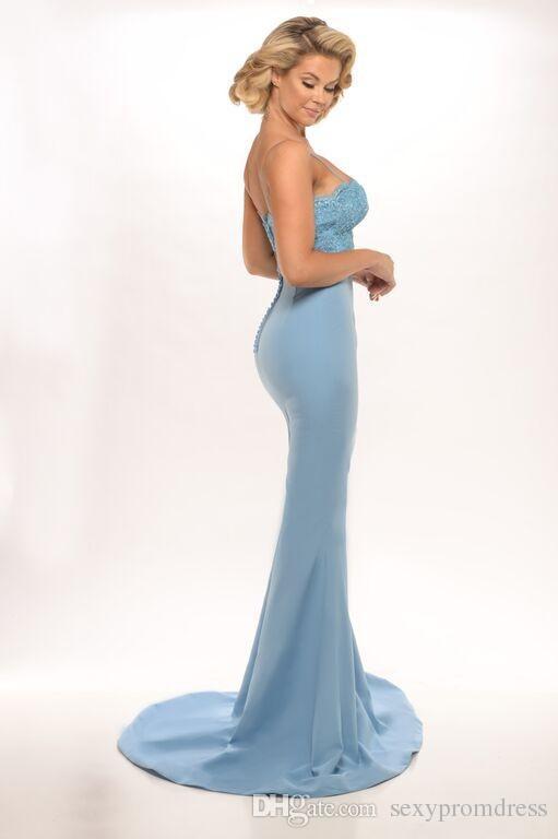 Dulces Color Cord Botice Dama de honor vestidos para la boda 2016 Spaghetti Mermaid Maid of Honor Botones Atrás Botones Cubiertos Vestidos de fiesta formales