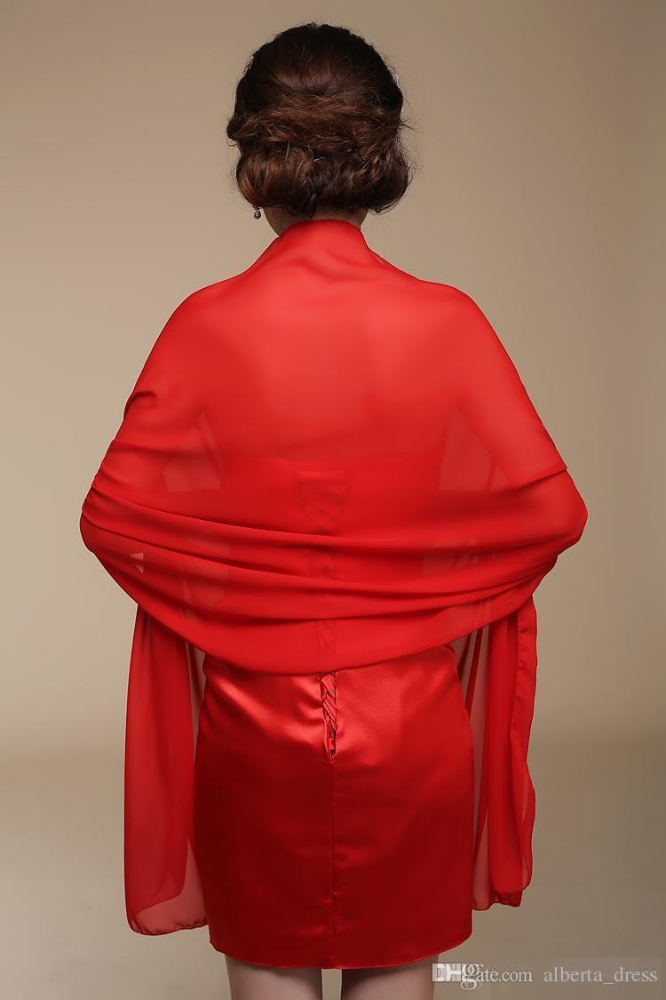 긴시 폰 신부 목도리 사용자 지정 만든 신부 슬립 선 스크린 스카프 크기 200cmX75cm 레드 퍼플 핑크 노란색 또는 사용자 정의 색상