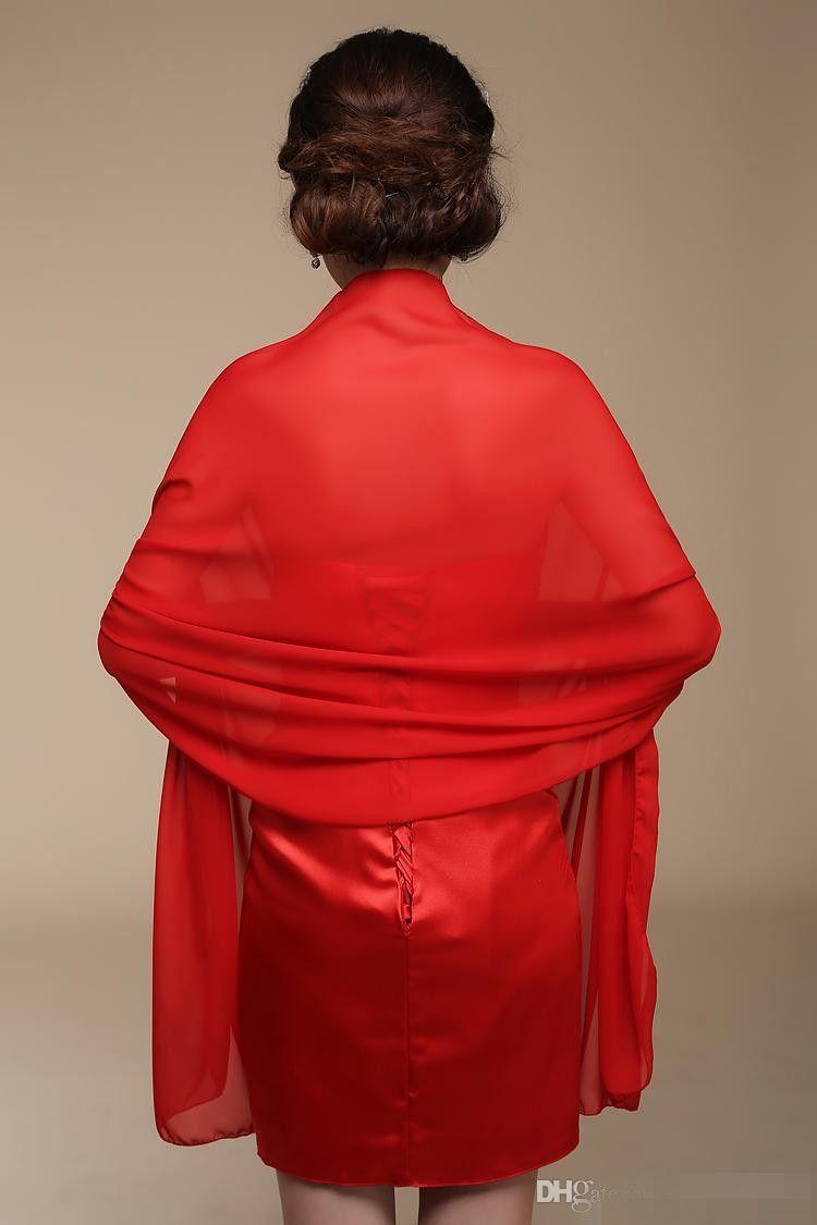 Uzun Şifon Gelin şal Custom Made Gelin Sarar Güneş Koruyucu Eşarp Boyutu 200 cm X 75 cm Kırmızı Mor Pembe Sarı Veya Özel Renk