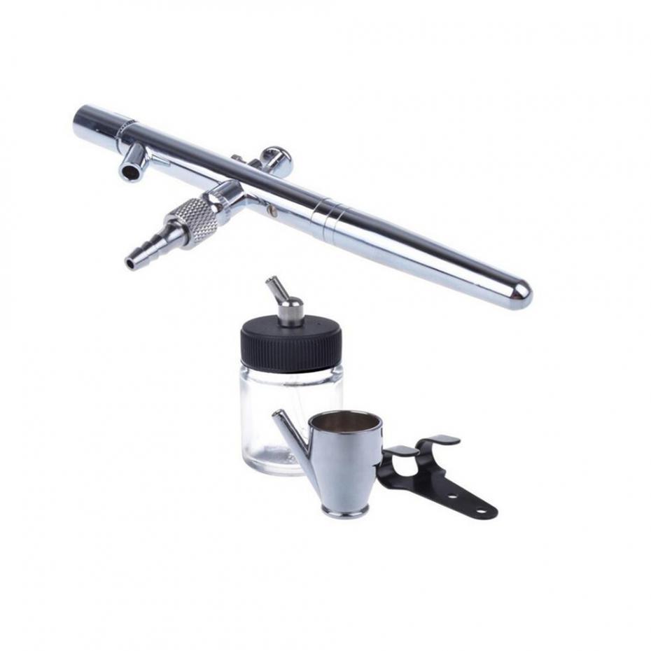 2017 Nouveau 0.35mm 22CC 128P Aérographe Double Action Professionnel Capacité Pen Kit Pistolet Pulvérisation Set avec 2 Modèles Ongles