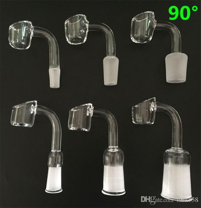NEW 4mm Thick 100% Quartz Banger Nail 10mm 14mm 18mm Female Male Bowl Domeless Quartz Nail VS Titanium Ceramic Nail
