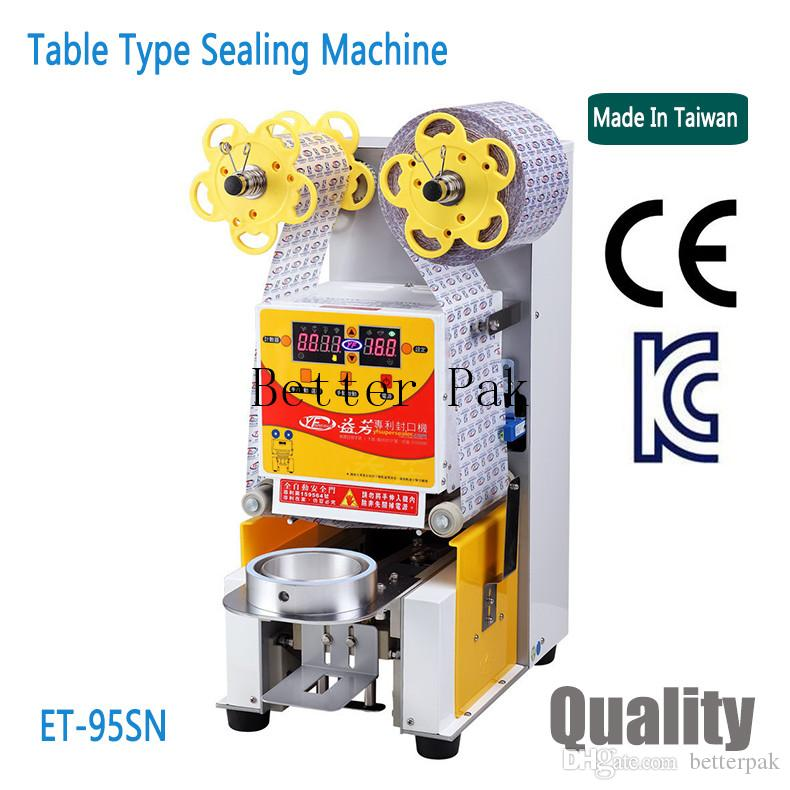 ET 95SN Table Type Automatic Cup Sealing Machine,milk Drink Cup Sealer,PE,PP,Paper  Cup Heat Sealing Machine.220V/50Hz