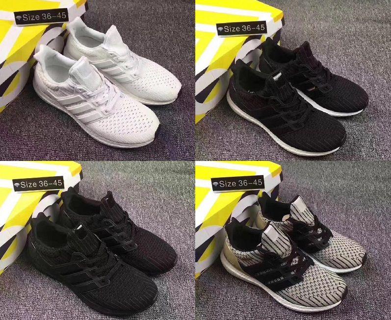 wholesale dealer 77bbd ca162 Compre Ultra Boost 4.0 Núcleo Triple Negro Blanco Primeknit Runner Moda  Ultraboost Zapatos Blancos Correr Zapatillas Deportivas Para Hombres  Mujeres Eur36 ...