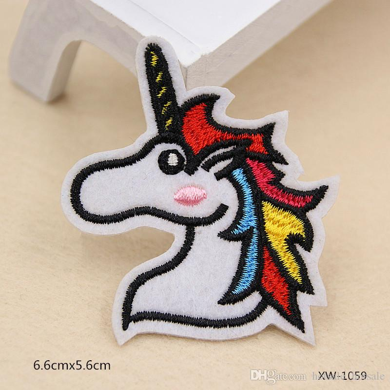 New Cartoon Animals Badge Patch Iron On Embroidered Appliques Stickers Patches For Clothes Clothing Sewing Accessories
