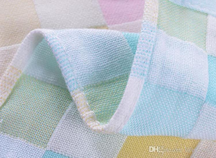 bath towels baby towels washcloths cotton baby bib cute small towel for kindergarten children sweat and slobber 26X26CM