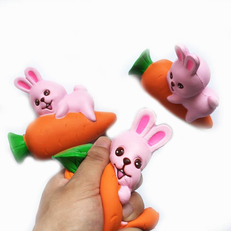 Squishy Squishy Toy hamburger lapin chien ours Slow Rising 10cm 11cm 12cm 15cm Doux Squeeze Cadeau Strap Mignon Stress jouets pour enfants D10 10