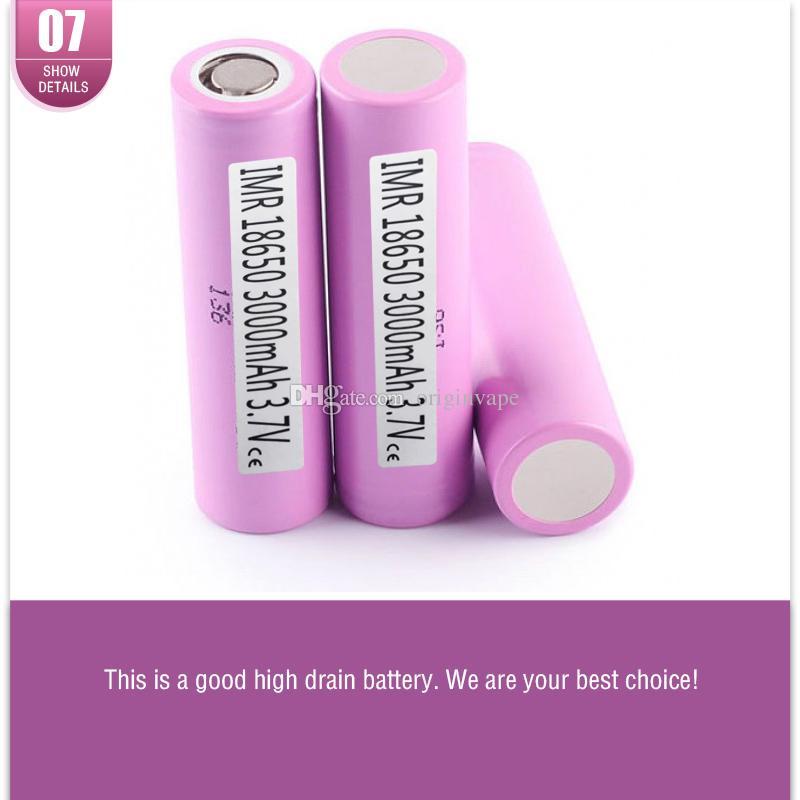 Dez Compensação Para Um Falso !!! Autêntico 30Q 18650 Bateria 3000 MAH 30A Baterias Recarregáveis de Lítio Usando Samsung Celular VS 25R Navio Livre