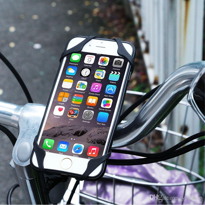 huge discount ee7ce 75bec Universal Bike Holder Cell Phone Bicycle Bike Phone Holder Bike Stem  Handlebar Mount for iphone 7 6S 6 Plus 5S for Samsung Smartphone
