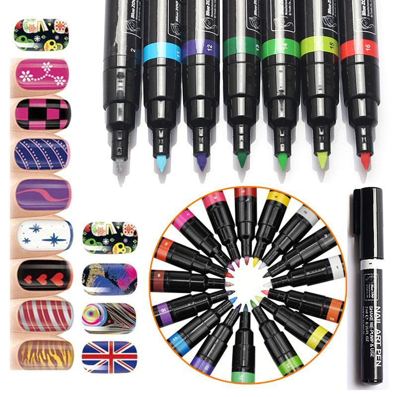 Wholesale For 3d Nail Art Diy Decoration Gel Nail Polish Pen Set 3d ...