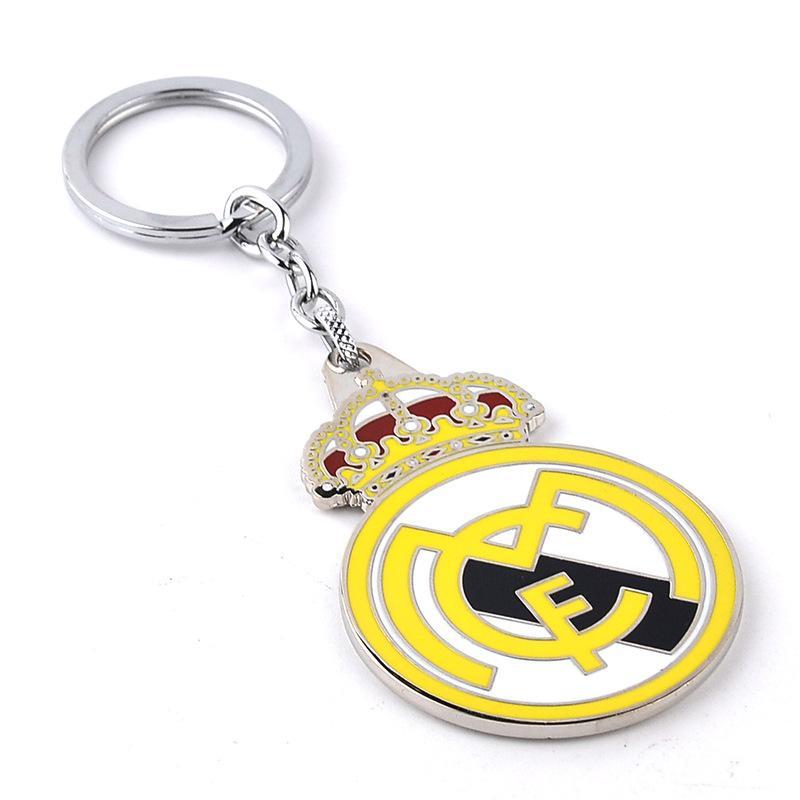 Metal Sport Key Chain Spain Real Madrid CF Logo Keychain Football Fans Rings Keyrings Bag Hang Women Men Fashion Jewelry 170391 Leather