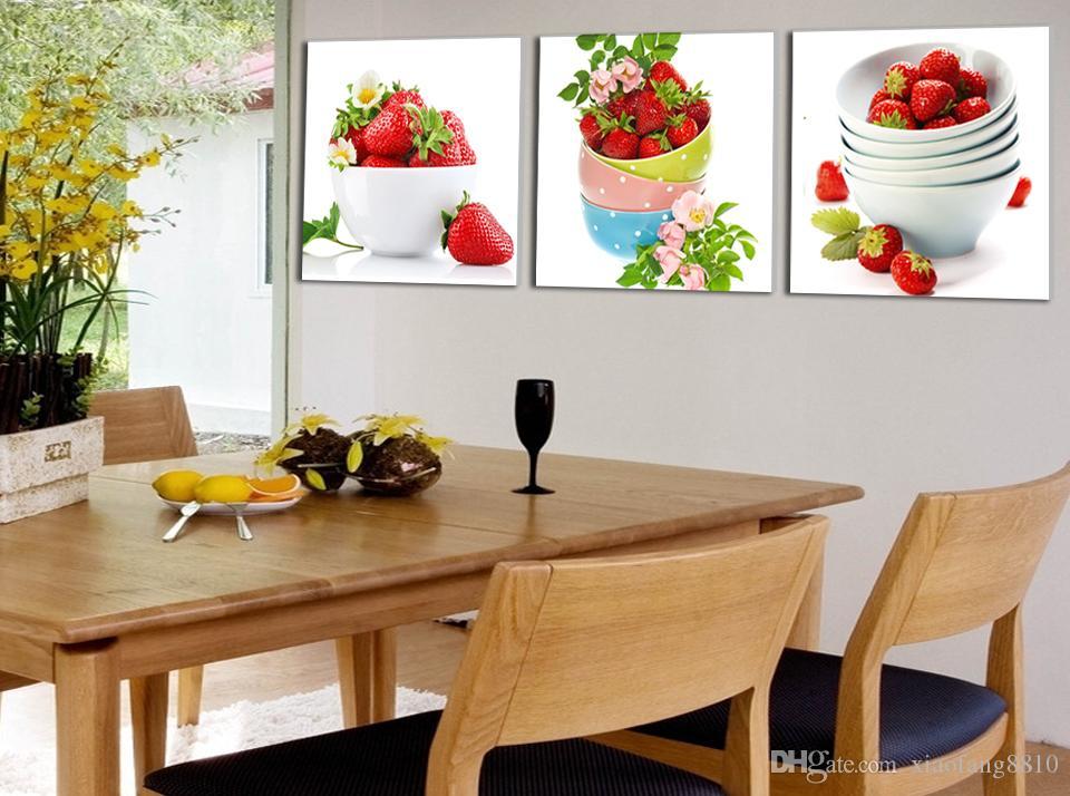 Fraise de fruits peinture sur toile peintures murales modernes pour mur de peinture peinture sur toile impressions No Frame