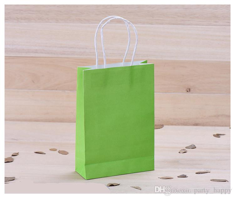 Creative Hand Green Color Clothing Shopping A Brown Paper Bag Gift Bags Advertising Bags Wedding Favour Party Gifts Bag Wedding Decorations