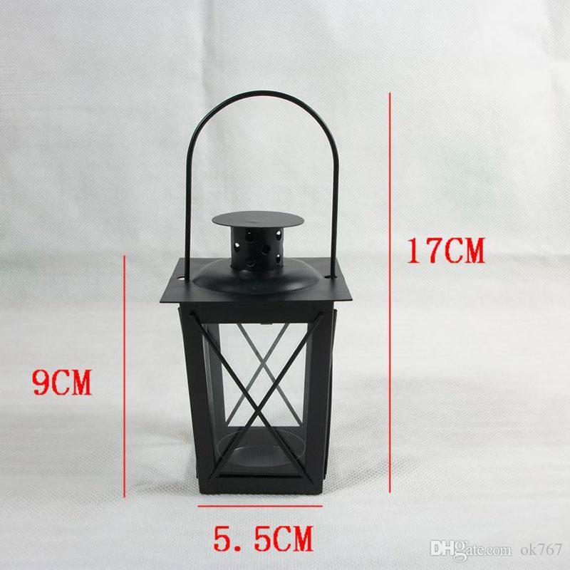 Venda Por Atacado Preto / Metal Branco titulares de vela lanterna De Ferro decoração de casamento peças centrais lanternas marroquinas lanterna da vela frete grátis