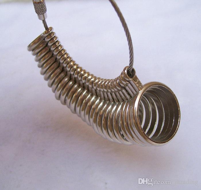 Toptan Ücretsiz Kargo Gümüş Japon ABD Yüzük Sizer Ölçer Faydalı Standart Metal Takı Boyutu Ölçme Parmak Sizer Aracı Ekipmanları
